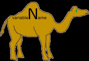 camelCase - верблюжья нотация для записи имен, состоящих из нескольких слов